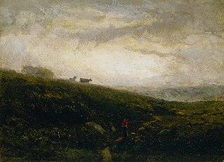 Untitled (cows descending hillside)