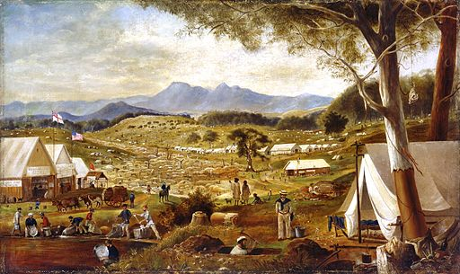 Edward Roper - Gold diggings, Ararat, 1854