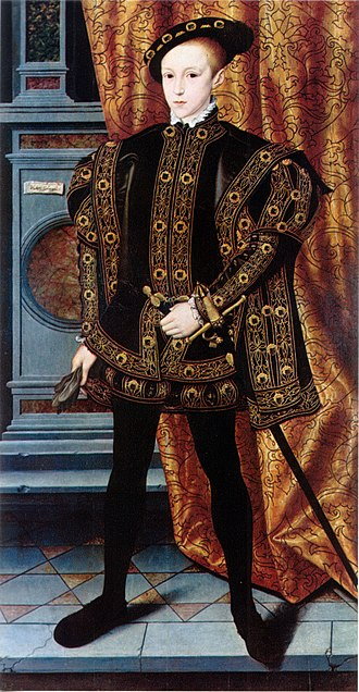 William Scrots - Edward VI, attributed to Scrots, Hampton Court.