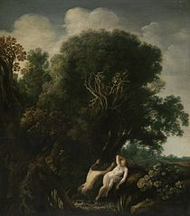 A Bathing Nymph Taken by Surprise by a Satyr