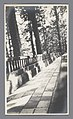 Een weg met een balustrade te midden van bomen, Nikko, Japan, RP-F-2000-9-46.jpg