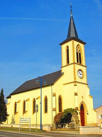 Évrange - The church in Évrange