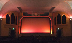 Egyptian Theatre (Delta, Colorado) - View towards the screen inside the historic Egyptian Theatre.