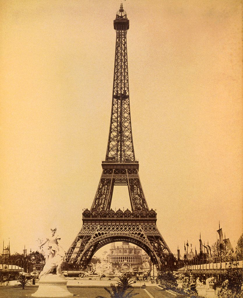 File eiffel tower looking toward trocad ro palace paris exposition - Tour eiffel dimension ...