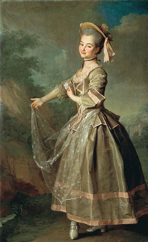 La serva padrona - Catherine Nelidova as Serpina (by Dmitry Levitzky, 1773)