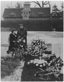 Eleanor Roosevelt at Franklin D. Roosevelt gravesite in Hyde Park - NARA - 195610.tif