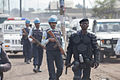 Elements of the Formed Police Unit (FPU) and the Congolese National Police (PNC) patrol the streets of Goma, Nord Kivu Province, 7 December 2011. (6476017281).jpg