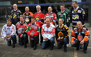 Swedish Hockey League - Head coaches of all twelve SHL teams, photographed in September 2011.