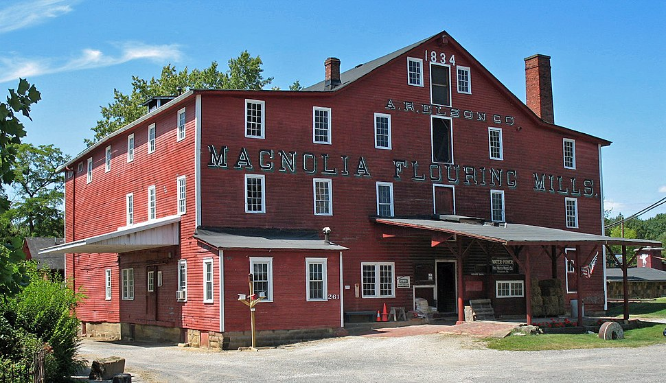 The Magnolia Flouring Mill was established by the village's founder.