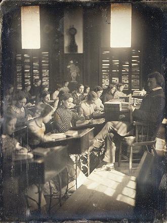 George Barrell Emerson - Emerson School for Girls, Boston, ca.1850; photo by Southworth & Hawes (Metropolitan Museum of Art, New York)