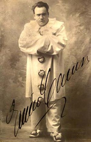 Evil clown - Enrico Caruso as the murderous Canio in Pagliacci