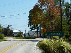 Entering Unionville, Indiana, from the east - P1100353.JPG