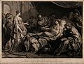 Erasistratus, a physician, realising that Antiochus's (son o Wellcome V0016260.jpg