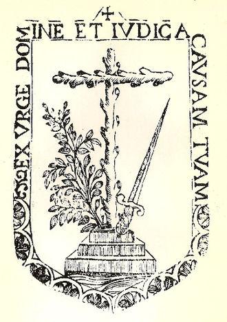 Xueta - Shield of the Inquisition used in Mallorca.