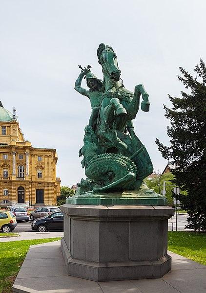 File:Estatua de San Jorge atacando al Dragón, Zagreb, Croacia, 2014-04-13, DD 01.JPG