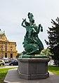 Estatua de San Jorge atacando al Dragón, Zagreb, Croacia, 2014-04-13, DD 01.JPG