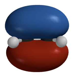 Hückel method - Image: Ethylene HOMO Spartan 3D balls