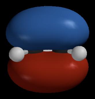Hückel method - Image: Ethylene HOMO Spartan 3D balls