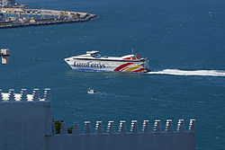 Uno de los Ferrys que realiza el trayecto Algeciras-Ceuta.