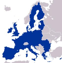 Mapa de la Unión Europea 2008