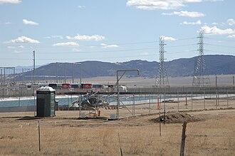 Topaz Solar Farm - Image: Evaporation Pond at Topaz Solar (8159014575)