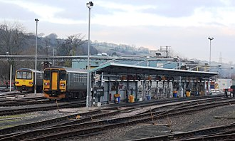 Exeter St David's railway station - The traincare depot opposite platform 6