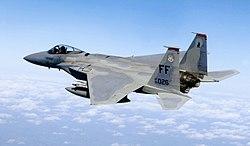 מטוס קרב F-15C איגל של חיל האוויר האמריקאי