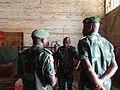 FARDC General in Ituri province, Jean-Pierre Bongwangela, assessing the amount of UXOs collected (23262080123).jpg