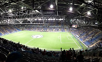 Astana Arena - Astana Arena before the UEFA Champions League play-off round match between FC Astana and Celtic F.C..