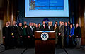 FEMA - 34024 - Secretary Chertoff and Administrator Paulison with partners at the National Press Club.jpg