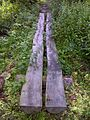 FLT M24 Kopac Blue 0.9 mi - Puncheon, 16' long, 2 split logs, log sills - panoramio.jpg