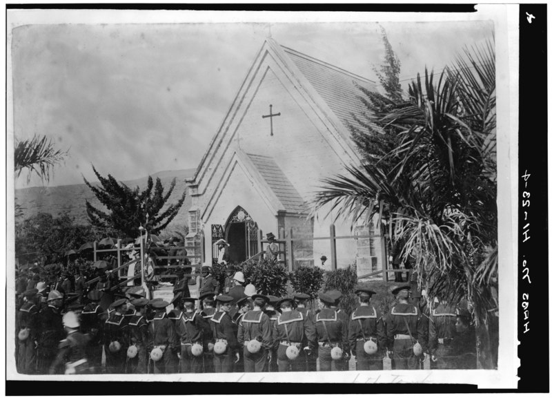File:FUNERAL OF KING KALAKAUA, 1891 (Photocopy, made 1966, of photograph in the Hawaii State Archives). - Royal Mausoleum, 2261 Nuuanu Avenue, Honolulu, Honolulu County, HI HABS HI,2-HONLU,25-4.tif