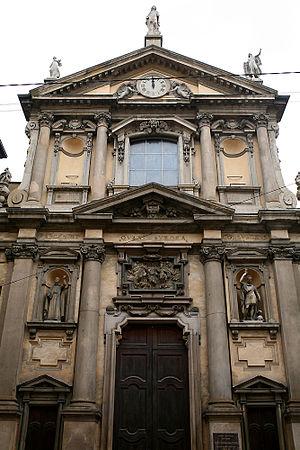 Santa Maria alla Porta, Milan - Image: Facciata Santa Maria alla Porta, Milano