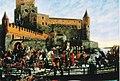 Falkman, Kaarle Knuutinpoika Bonde lähdössä Viipurin linnasta Tukholmaan kuninkaanvaaliin 1448.jpg