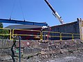 Fall River Somerset Route 79 Project 1st Steel Beam, June 3, 2014 (14158054307).jpg