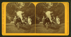 Family portrait in front of Minnehaha Falls, by Zimmerman, Charles A., 1844-1909.png