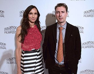Golden Door Film Festival - Actress Famke Janssen and director Artur Balder at the 2015 ceremony of Golden Door Film Festival.