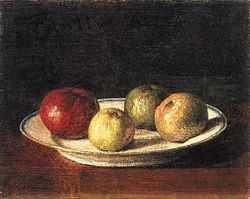 Henri Fantin-Latour: A Plate of Apples
