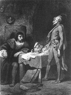 Tony Johannot - Image: Faust und Mephisto, Stich von Tony Johannot