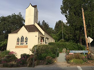 Felton, California - Felton Library on Gushee Street