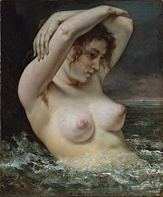 COURBET Gustave The Woman in the Waves 1868