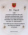 Ferlach Seidolach Filialkirche hl. Ägidius Schild 25082011 111.jpg