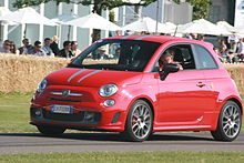 Abarth 695 Tributo Ferrari Red With Grey Stripes