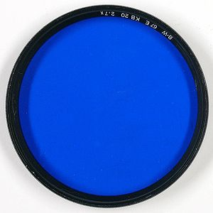 Astronomical filter - A blue color filter