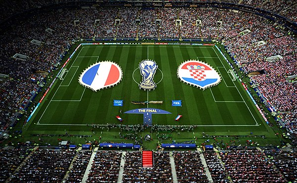 Final of the Soccer World Cup Russia between the national teams of France and Croatia.jpg