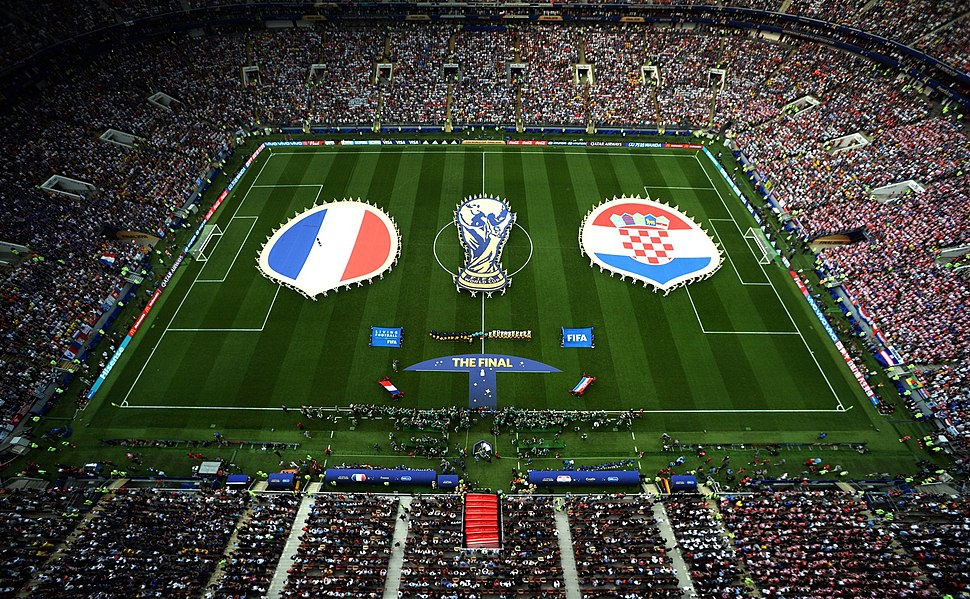 Final of the Soccer World Cup Russia between the national teams of France and Croatia