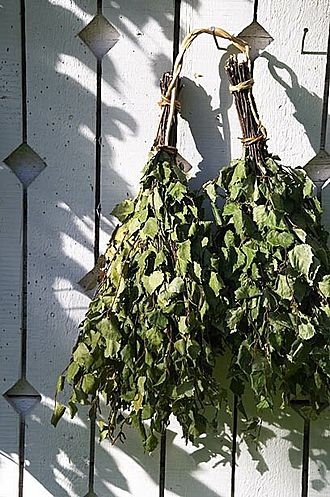 Finnish sauna - Finnish vihta (vasta in Eastern Finland), made of birch. It is used in traditional sauna-bathing for massage and stimulation of the skin.