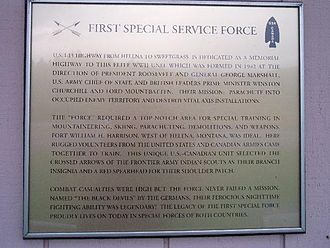 First Special Service Force - Plaque located on Interstate 15 between Helena and Great Falls.