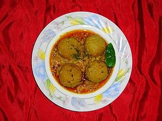 Kofta - Fish kofta curry from the Indian subcontinent