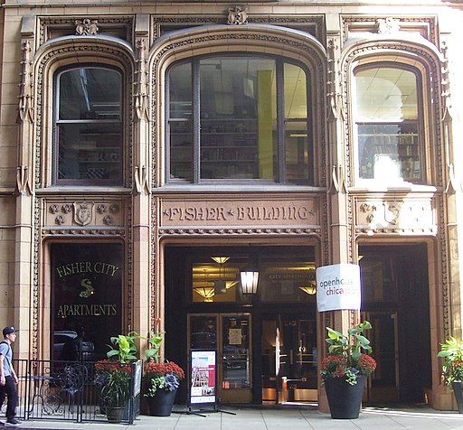 Fisher Building 343 South Dearborn Avenue entrance